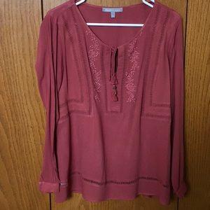 Bohemian peasant blouse